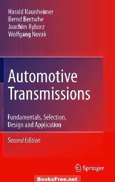 Download AUTOMOTIVE TRANSMISSIONS - Fundamentals, Selections, Design and Applications eBook