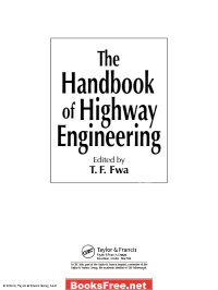 the handbook of highway engineering the handbook of highway engineering pdf the handbook of highway engineering pdf download the handbook of highway engineering by t.f. fwa